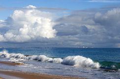 Indian Ocean waves on  Buffalo Beach near Bunbury Western Australia. Stock Images