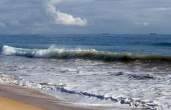 Indian Ocean waves on  Buffalo Beach near Bunbury Western Australia. Stock Photo