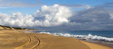 Indian Ocean waves on  Buffalo Beach near Bunbury Western Australia. Stock Image