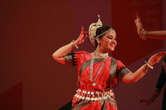 Indian odissi dance posture Stock Photography