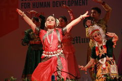 Indian odissi dance posture Stock Images