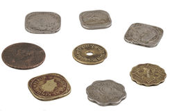 Indian old coin Stock Photo