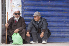 Indian old man on the street in Leh, Ladakh. India Stock Photos
