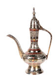 Indian old metal teapot on a white background Stock Image