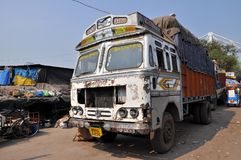 Indian Old Rusty Truck Stock Photo