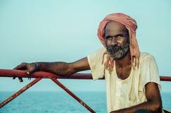 An Indian old workman Royalty Free Stock Photos
