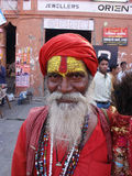 Indian oldman Stock Image