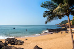 Indian om beach for backpackers Royalty Free Stock Photos
