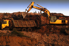 Indian Opencast Coalmines Royalty Free Stock Photos