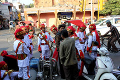 Indian orchestra in a street Stock Photo