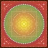 Indian oriental ornament of mandala. vector illustration