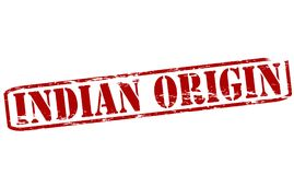 Indian origin. Rubber stamp with text Indian origin inside,  illustration Stock Photo