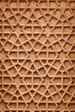 Indian ornament with Arabic motifs. Stone carving from Agra Stock Images