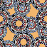 Indian ornament, kaleidoscopic flora pattern Royalty Free Stock Photo