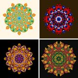 Indian ornament, kaleidoscopic floral pattern, Royalty Free Stock Photography