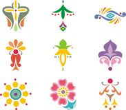 Indian ornamental designs Stock Image