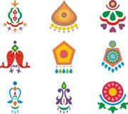 Indian ornamental designs Stock Photos