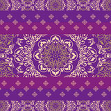 Indian ornamental fabric ethnic pattern Stock Images