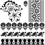 Indian ornaments on white Royalty Free Stock Photography