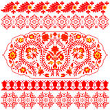 Indian ornaments on white Royalty Free Stock Image