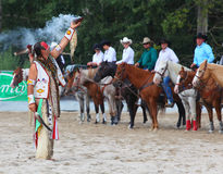 Indian på ceremonin. Arkivfoton