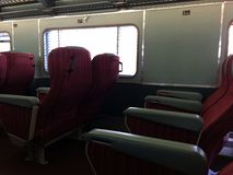Indian Pacific, red seats Stock Photo