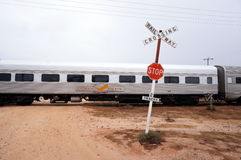 Indian Pacific stops at Cook Stock Photo