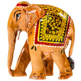 Indian painted wooden elephant figurine Stock Images