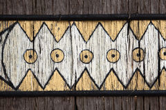 Indian Painting on a Door Manaus Brazil Stock Photo