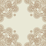 Indian paisley boho floral corners frame. Vector illustration Stock Photography