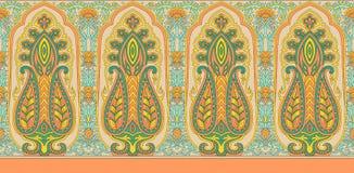 Indian paisley border background royalty free illustration