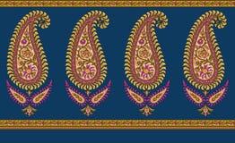 Indian paisley border royalty free illustration