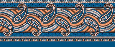 Indian paisley classical border vector illustration