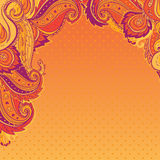 Indian paisley colorful ornate frame Stock Photography