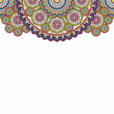 Indian paisley doodle upper border. Vector illustration. Indian paisley doodle upper border. Vector illustration Stock Images