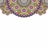 Indian paisley doodle upper border. Vector illustration. Indian paisley doodle upper border. Vector illustration stock illustration