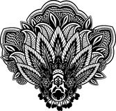 Indian paisley illustration Royalty Free Stock Images