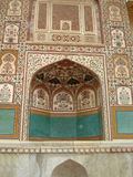 Indian palace. Wall painting, Amber palace, India Royalty Free Stock Images