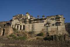 Indian Palace. This is Bundi Palace in Rajasthan.  It used to be a royal household Royalty Free Stock Photography