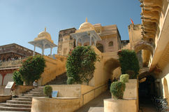 Indian Palace. Old palace in Jaipur Stock Images