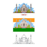 Indian palace in different ways. Royalty Free Stock Photo