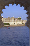 Indian Palace by Lake Pichola Royalty Free Stock Image