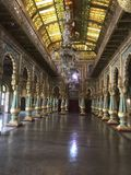 Indian palaces architecture art and designs. Old indian palace interior art designs royalty free stock image