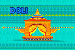 Indian Palki Palanquin representing colorful India Royalty Free Stock Photo