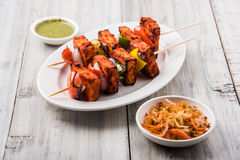 Indian paneer barbecue or tikka Royalty Free Stock Photos