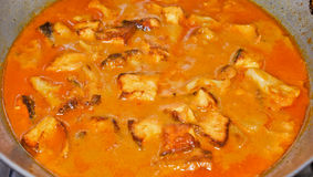 Indian paneer curry. Indian style of paneer (cottage cheese) curry with rich gravy Royalty Free Stock Photo