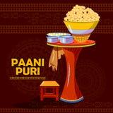 Indian Panipuri or Gol Gappa representing street food of India Stock Photos