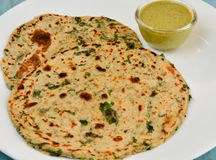 Indian Parantha (stuffed Indian Bread) Stock Photo