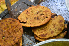 Indian Parantha (stuffed indian bread) royalty free stock image