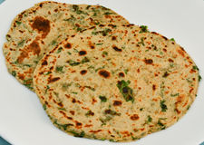 Indian Parantha (stuffed indian bread) Royalty Free Stock Photos